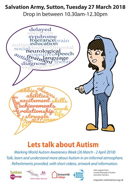Let's Talk About Autism Poster