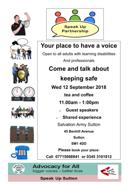 Speak up Partnership Poster