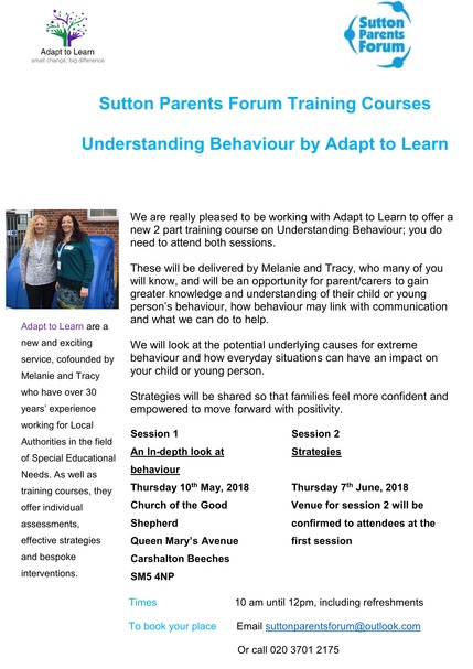 Understanding Behaviour with Adapt to Learn Poster